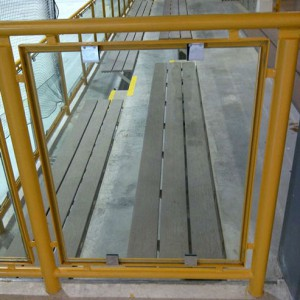 Handrails in hockey rink