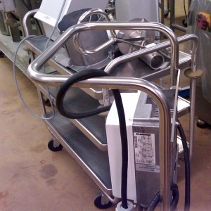 Mobile Stainless Steel Pump Cart