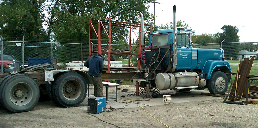 Tandem Grain Truck